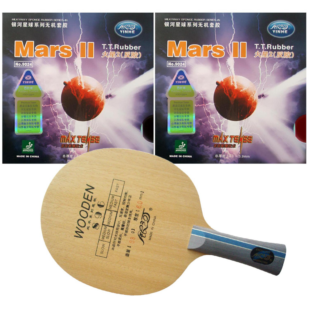 Pro Table Tennis (Ping Pong) Combo Racket: Galaxy YINHE 896 + 2Pcs Galaxy YINHE Mars II (Factory Tuned) Long Shakehand  FL butterfly wakaba 2000 table tennis racket free 2 balls in pack