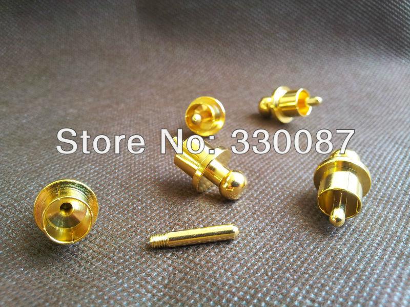 300pcs RCA Cap Protector Dust Proof Gold Plated Noise Stopper Shielding Caps