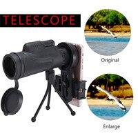 Sıcak Satış 12x50 Yakınlaştırma Optik Objektif Lens Su Geçirmez Monoküler Geniş Açı Teleskop Kamera Lens + Tripod için Cep telefon