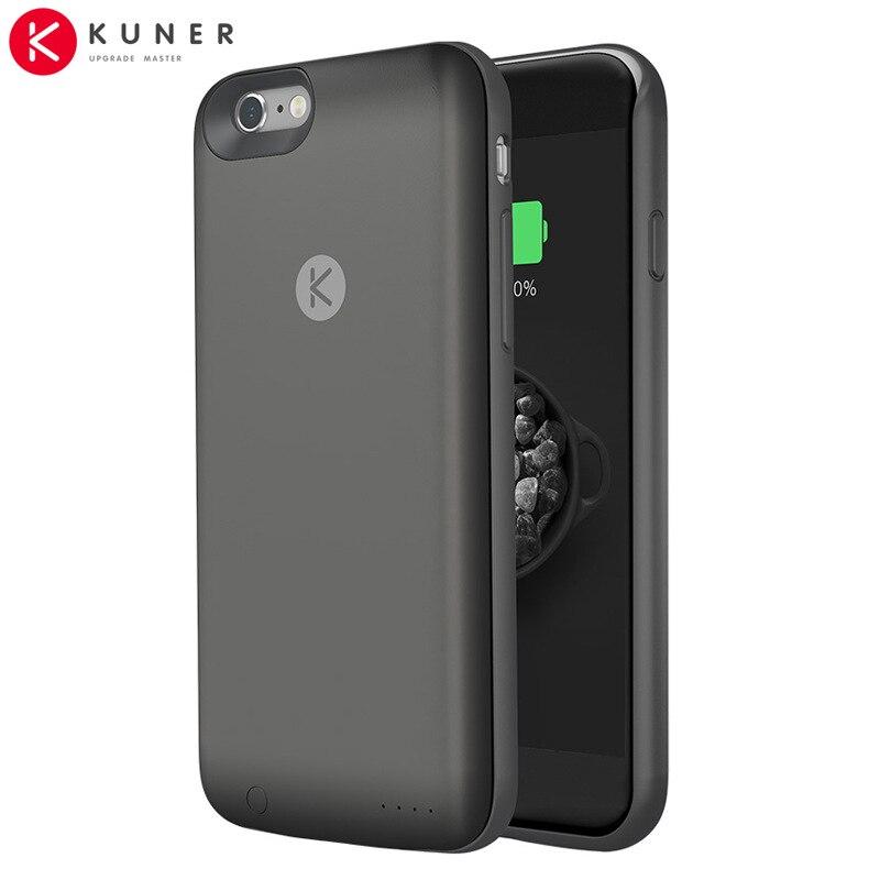 Цена за Кюнер красочные 2400 мАч резервное копирование перезаряжаемые внешняя батарея зарядное устройство крышки случая обновления power bank подходит для apple iphone6 iphone 6s