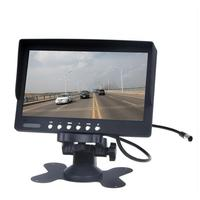 HD Resolution 7 Inch Car Rearview Monitor Support 2 AV Input Auto LCD Display Reverse Backup