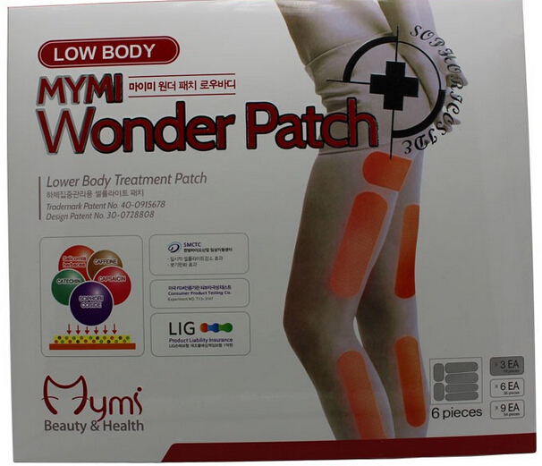 18pcs/pack Mymi Wonder Slim Patch For Legs Arm Slimming Weight Loss Patchs Burn Fat Feet Care Anti Cellulite Without Retail Box