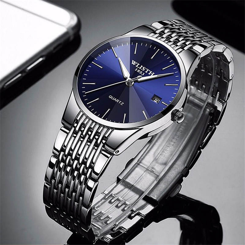 Top Brand Luxury Mens Watches Waterproof Business Watches Man Quartz Ultra-thin Wrist Watch Male Clock Couple Relogio Masculino