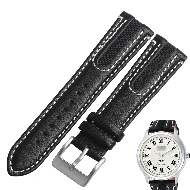 Wentula Watch Band For Citizen Nj2167 Cow Leather Watch Band Calf Leather Band Nj2167 Nj2166