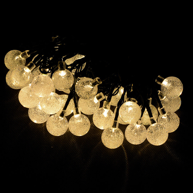 20 LED Ball Solar Powered Outdoor String Christmas Light For Outside Patio Party -Y103