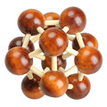 Chinese Traditional Wooden Zorbing Ball Educational Toy Adult Children Intelligence Toy Model Building Kits FCI#