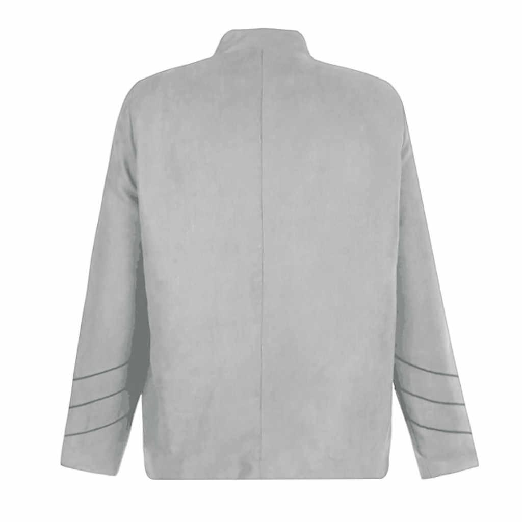 JAYCOSIN ฤดูใบไม้ร่วงผู้ชายเสื้อ Gothic ปักเลื่อม Outwear เครื่องแต่งกายประสิทธิภาพ