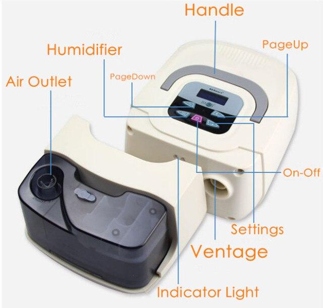 Doctodd GI CPAP Portable CPAP Respirator for Sleep Apnea OSAHS OSAS Snoring People W/ Nasal Mask Headgear Tube Bag 4