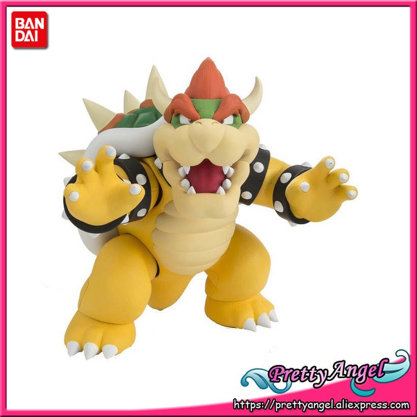 PrettyAngel - Genuine Bandai Tamashii Web Exclusive S.H.Figuarts Super Mario Bowser Action Figure 18cm 7inch super mario plush toys bowser dragon doll brothers bowser toy free shipping