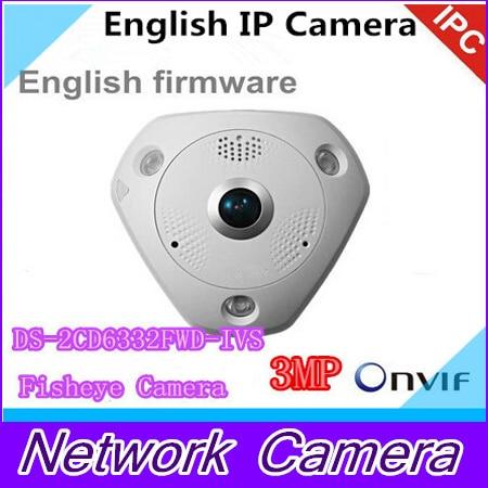 English DS 2CD6332FWD IVS 3MP Full HD 1080P PoE WDR Panorama 360 Degree Fisheye e PTZ