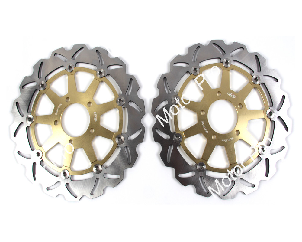 2 PCS FOR SUZUKI GSX R 750 1996 1997 1998 1999 2000 2001 2002 2003 GSX R 600 CNC Motorcycle Front Brake Disc brake disk Rotor motorcycle front brake disc rotor for suzuki gsx 600 f 1989 1990 gsx 750 f katana 1998 1999 2000 2001 2002 2003 gold