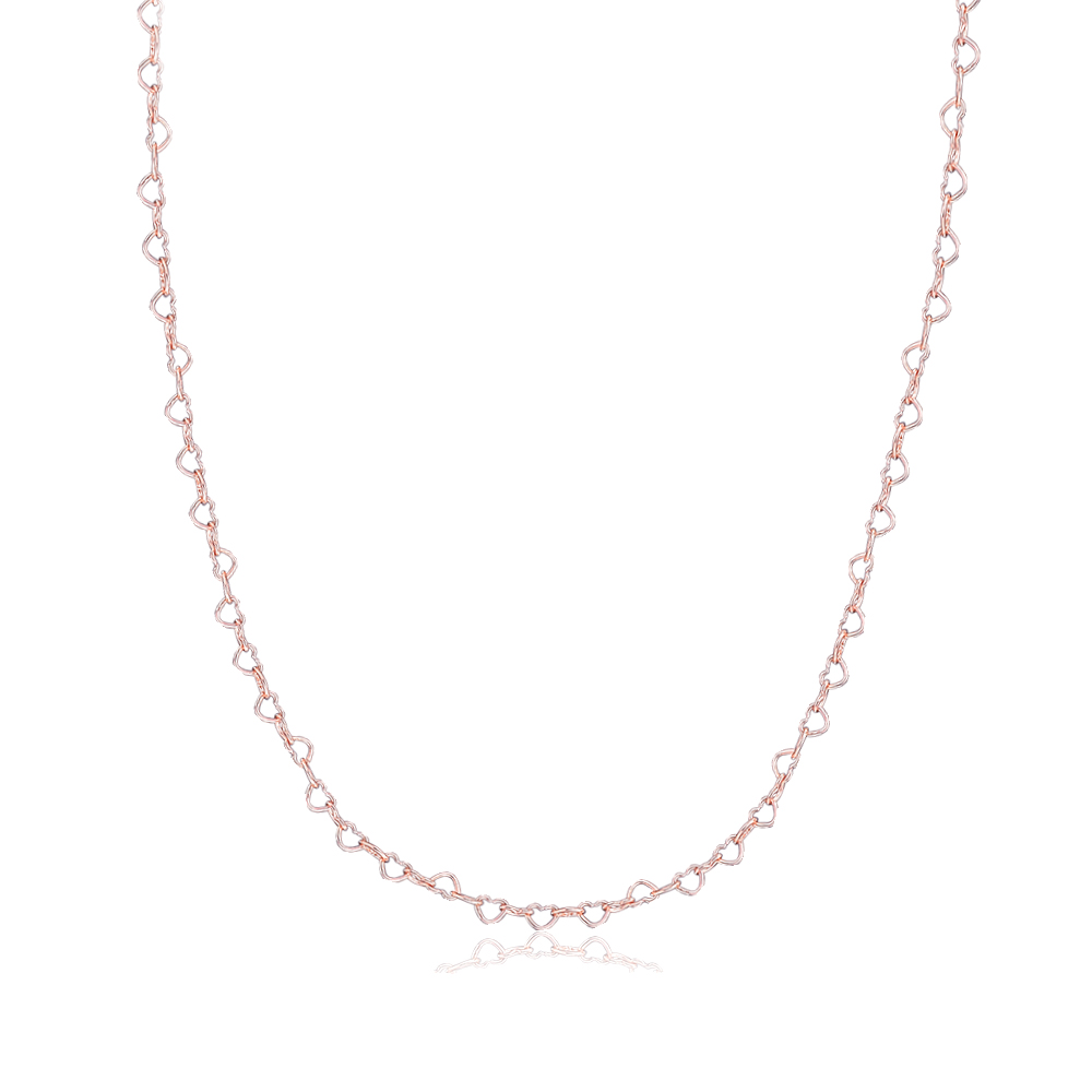 Pandulaso Spring Rose Gold Joined Hearts Necklace Fashion Female Necklace Fits Beads & Charms Women DIY NecklacePandulaso Spring Rose Gold Joined Hearts Necklace Fashion Female Necklace Fits Beads & Charms Women DIY Necklace
