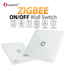 ZIGBEE wall switch AC100-240V control small power electronic devices APP and voice work with echo plus zigbee gateways