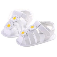 Pu Leather Hollow Flower Beach Sandal Summer Cute Baby Girls Solid Color Kids Cute Floral Toddler Shoes 0-18M