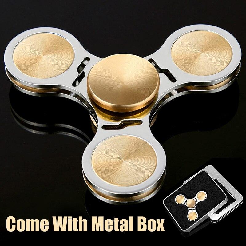 DODOELEPHANT TH-22 Hand Spinner Spiner Metal Fidget Spinner Hand Finger Spinner For Anti Stress Focus Toys With Metal Box