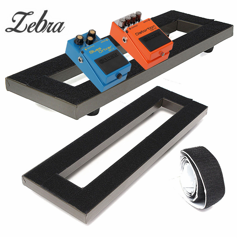 zebra 40x13cm alloy electric guitar pedal board non slip setup pedalboards tape with adhesive. Black Bedroom Furniture Sets. Home Design Ideas