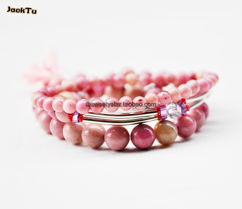 Silver Bar Mix Pink Stone Bracelet Set For In Wrap Bracelets From Jewelry Accessories On Aliexpress Alibaba Group