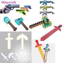 Brinquedos de Armas De Espuma Minecraft Espada Diamante Minecraft Picareta Pá EVA arma Modelo Brinquedos Action Figure Toy Presente para Crianças crianças