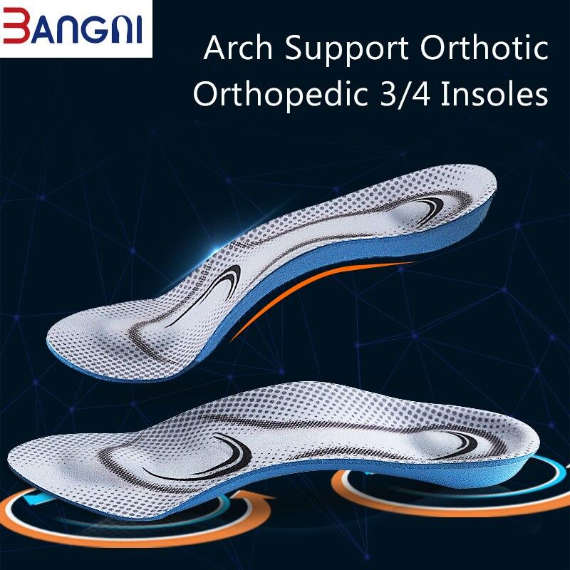 3 ANGNI Ortopédicos Arch Suporte Leve Pés Chatos 3/4 Palmilhas de Espuma de Memória Macio Mensagem Para O Homem Sapatos de Mulher