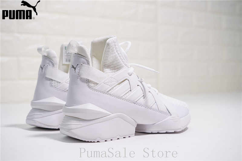 7057cc35c25 ... PUMA Women s Muse Echo Satin EP Sneakers Badminton Shoes 365522-01 White  Color Sneakers High ...