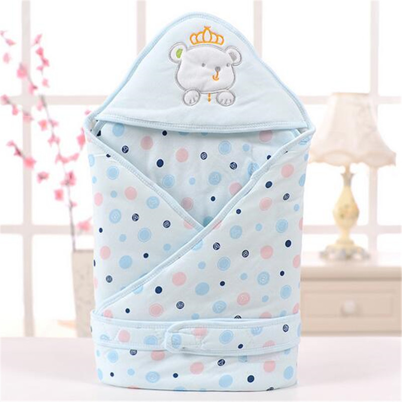 Baby Swaddle Wrap Blanket <font><b>Sleeping</b></font> Bag Cotton Animal Baby Accessaries Toddler Envelope Bedding Cute Warm Thick Blanket