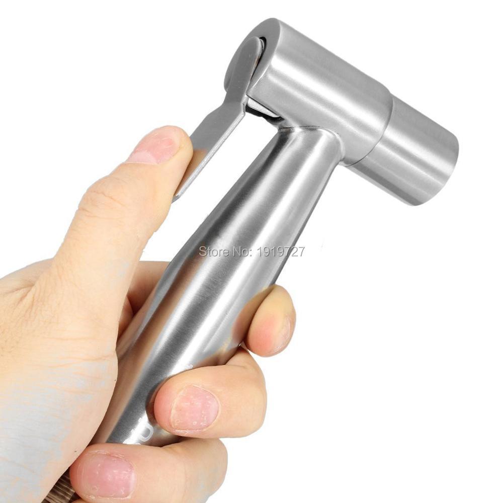 Image 2 - Wholesale New Premium High Quality Gold Mini Muslim Shattaf  Shower Toilet Spray Portable Chrome Silver Small Bidet Sprayerbidet  sprayertoilet bidet sprayertoilet mini shower