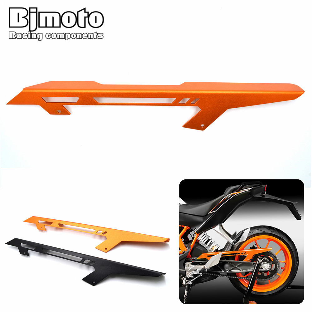 CGC-KT001 Rear Back Drive Chain Guard Mud Cover Panel Shield Fairing Cowl Protector For KTM DUKE 125 200 DUKE 390 2013-2017 for ktm duke 125 200 390 2013 2016 motorcycle cnc windshield windscreen upper headlight top mount cover panel fairing screen