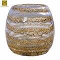 Современная стеклянная ваза  украшение для дома  Креативный цветочный горшок в полоску с кристаллами  гидропонный контейнер  столешница  ...