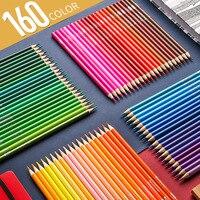 YOO 150Colors Water Soluble Color Prismacolor Lapis de cor 120/160 oil Colored Pencils cores Pencil for Art School Supplies