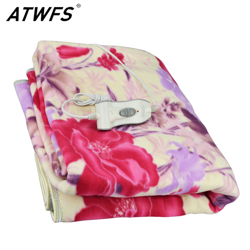 ATWFS Double Electric Mattress Thermostat Thicker Waterproof 160 150cm Electric Security Blanket Heating Blanket