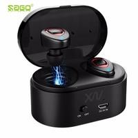 SagoTWS K5s Wireless Headphone Bluetooth Earbuds Mini Sweatproof Sport Headsets Bluetooth Earphones with Mic for iPhone Samsung