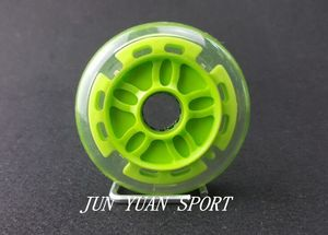 Image 2 - High quality!8Pieces/lot 90mm LED Flash Inline Speed Racing Speed Skating Wheel for Street Brushing Cool Light,Free shipping
