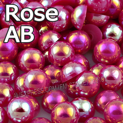 Beads & Jewelry Making Helpful Mix Colors Ab Half Round Flatback Beads 2mm 3mm 4mm 5mm 6mm 8mm 10mm Imitation Abs Plastic Pearls For Fashion Diy Fashion Nails Customers First