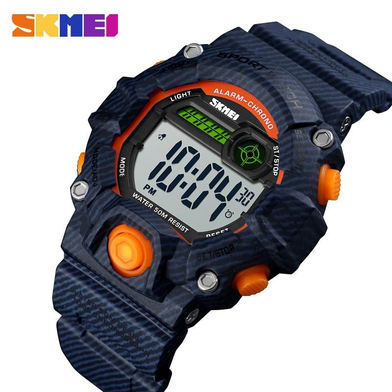 SKMEI Fashion Quartz Digital Watch Boys Girls Kids Waterproof Clock Outdoor Sport Dual Display Children Wristwatch Montre Enfan