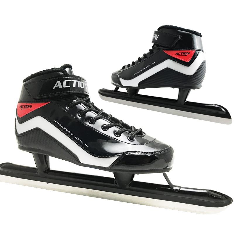 Chaussures de patinage de vitesse Japy Skate Action adulte enfant patins professionnel Fix longue lame couteau à glace chaussures vrais patins à glace