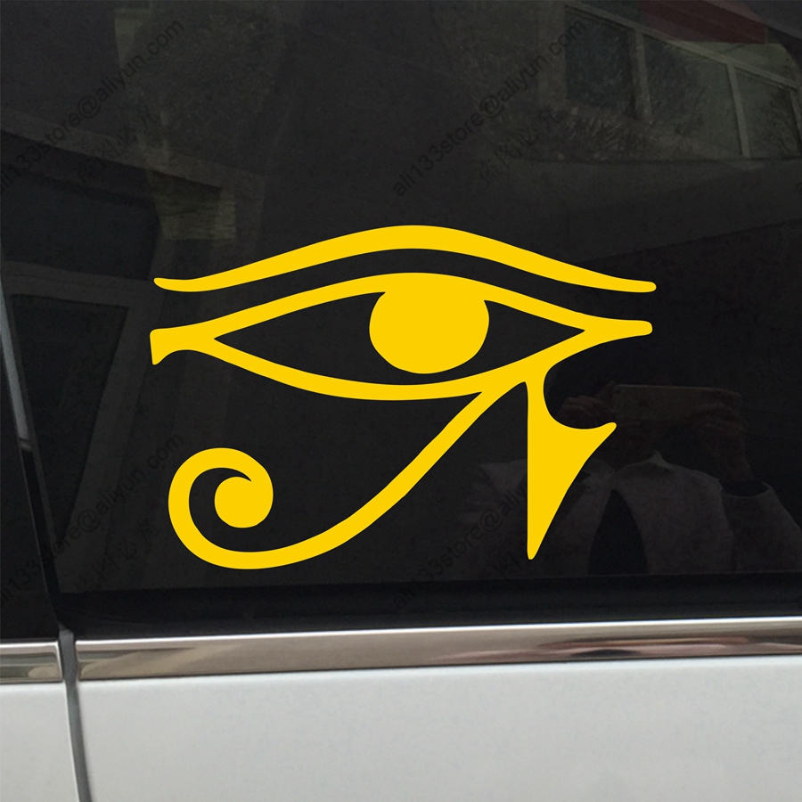 Eye of ra re horse egyptian god pagan symbol car decal sticker eye of ra re horse egyptian god pagan symbol car decal sticker vinyl truck boat die cut no background pick color and size style2 in car stickers from biocorpaavc