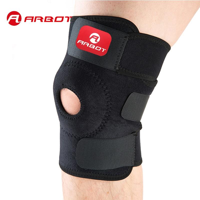 Elastische Kniebandage Klammer Kniepolster Einstellbar Patella Knieschützer Schutzgurt Für Basketball Freie Größe