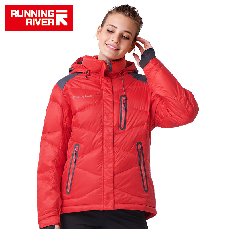 RUNNING RIVER Brand Women Camping Hiking Down Jacket 2 Colors Size S XXXL High Quality Winter