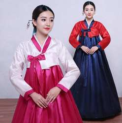 Корейские повседневные женские традиционные костюмы для выступлений в стиле ханбок дворца Корея Свадьба оригинальный танцевальный