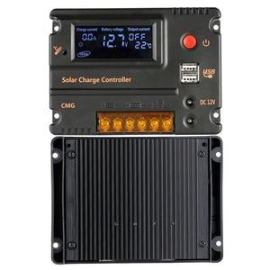 Image 5 - Контроллер заряда солнечной батареи 20 А, регулятор батареи солнечной панели, автоматический переключатель, контроллер солнечной энергии, температурная компенсация 12 В/24 В