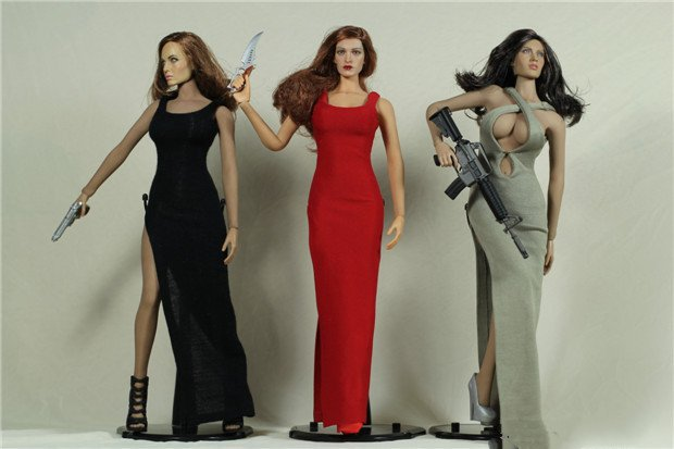 Favori Winstartoy full hand made 1/6 sexy Bond girl Dresses with high  VR22