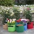 Многоцветные и многоразмерные войлочные мешки для выращивания растений горшок для рассады домашний сад декоративный цветочный мешок Ланд...