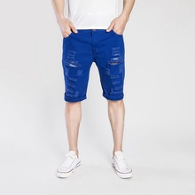 Summer Mens Short Jeans Fashion Hole Cotton Stretches Casual Denim Shorts Pants Hot Sell Plus Size