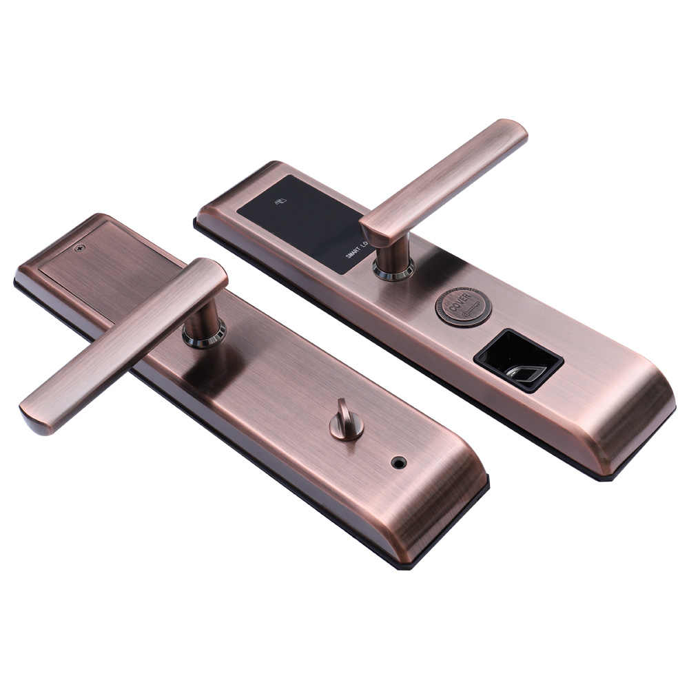 WiFi Smart Door Lock, Intelligent Fingerprint Reader Scanning Password Lock Bluetooth Fingerprint Smart Keyless Lock