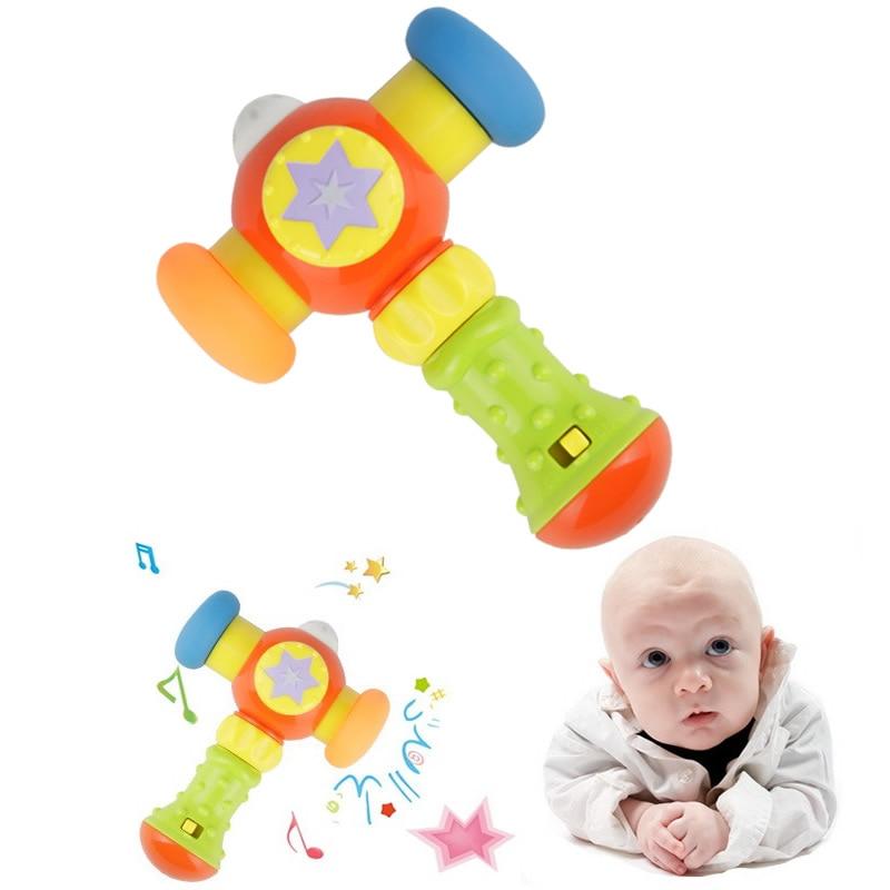 Hot Child Music Toys Small Hammer Baby Noise Maker Children Plastic Toys Baby Educational Toys TY31
