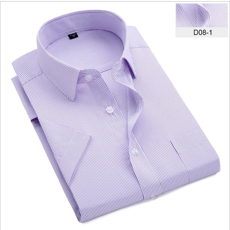Popular Brand Striped Shirts Men's Short Sleeve Casual Shirt Chemise Homme Summer New Fashion Square Collar Professional Shirt Men Blouse