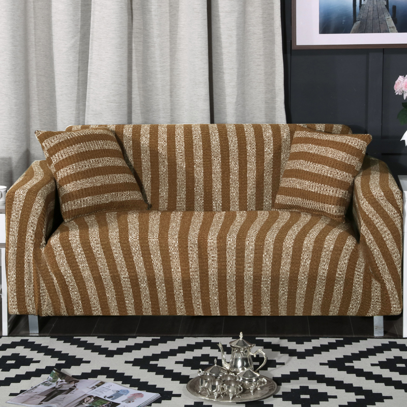 Pleasant Us 33 62 59 Off Elastic Sofa Cover Knitted Blue Stripes Slipcovers Universal Flexible Stretch Couch Loveseat Sofa Slipcovers Furniture Cover In Sofa Dailytribune Chair Design For Home Dailytribuneorg