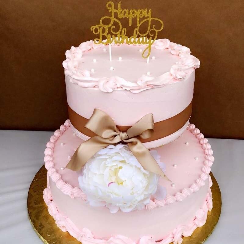 Astonishing Glitter Happy Birthday Cake Topper For Baby Kid Boy Girl Adult Funny Birthday Cards Online Aboleapandamsfinfo