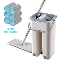 Spray Magic Automatic Spin Mop Avoid Hand Washing Fiber Cleaning Cloth Home Kitchen Sweep the Floor Lazy Wash Dry Mop