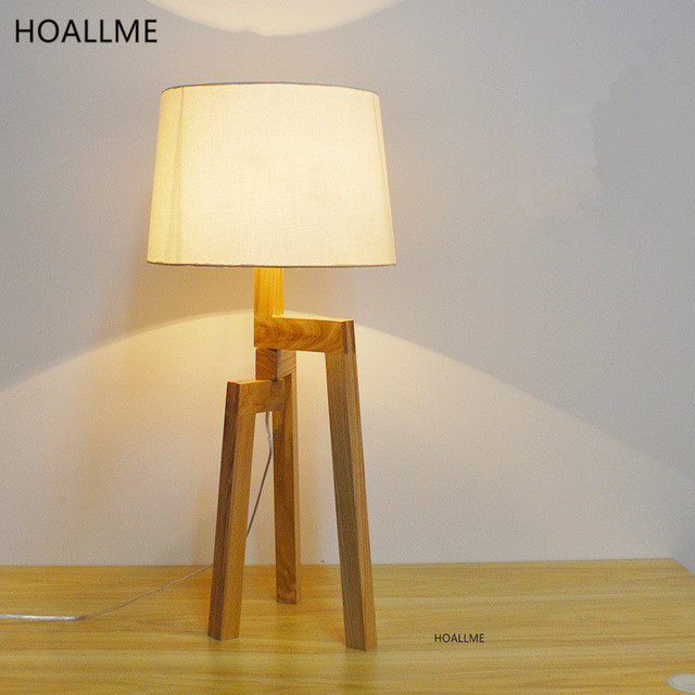 Nordic Creative Table Lamps Wooden Floor Lamp Bedroom Night stand Desk  Light Sofa Tea Table Lighting